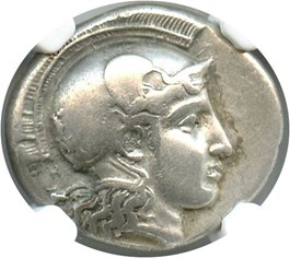 Image of Late 5th Century Pharsalus AR Drachm NGC Ch VF (Ancient Greek) Strike:5/5; Surface 5/5