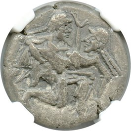 Image of 525-450 BC Isle of Thasos AR Stater NGC Choice VF (Ancient Greek) Strike:5/5; Surface 3/5