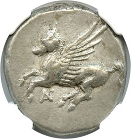 Image of 4th-3rd Centuries BC Anactorium AR Stater NGC AU (Ancient Greek) Strike:5/5; Surface 4/5