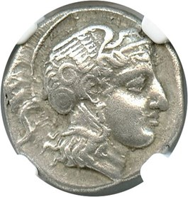 Image of Late 5th Century Pharsalus AR Drachm NGC XF - Star - (Ancient Greek) Strike:5/5; Surface 5/5