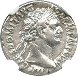 Image of AD 81-96 Domitian AR Denarius NGC  XF (Ancient Roman) Strike:5/5; Surface 3/5