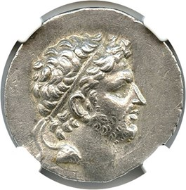 Image of 179-168 BC Perseus AR Tetradrachm NGC XF (Ancient Greek) Strike:5/5; Surface 4/5