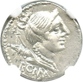 Image of 96 BC A.Albinus Sp.f. AR Denarius NGC AU *Star*(Ancient Roman) Strike:5/5; Surface 5/5