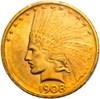 Image of 1908-D $10 PCGS MS62 (No Motto)
