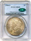Image of 1904-S $1 PCGS/CAC MS65 - Rich Colorful Toned Gem Key Date - No Reserve!