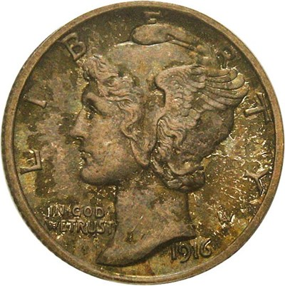 Image of 1916-D 10c PCGS MS66 FB - Major 20th Century Rarity in Gem