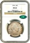 Image of 1905 50c NGC/CAC MS64 - No Reserve!