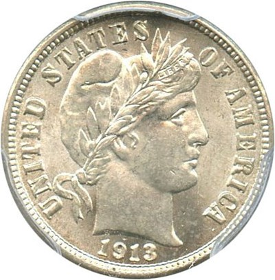 Image of 1913 10c PCGS MS64