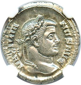 Image of AD 286-310 Maximian AR Argenteus NGC Ch AU (Ancient Roman) Strike:5/5; Surface 5/5