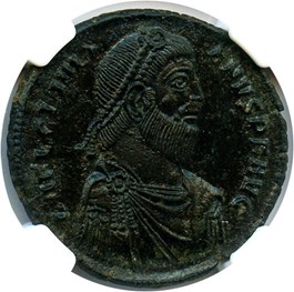 Image of AD 360-363 Julian II AE1 (BI Maiorina) NGC Ch AU (Ancient Roman) Strike:5/5; Surface 3/5