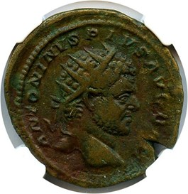 Image of AD 198-217 Caracalla AE Dupondius NGC Ch VF (Ancient Roman) Strike:4/5; Surface 4/5