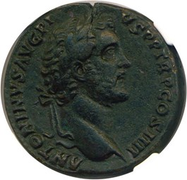 Image of AD 138-161 Antoninus Pius AE Sestertius NGC VF (Ancient Roman) Strike:4/5; Surface 4/5