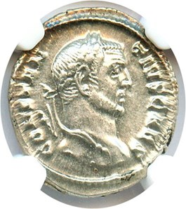 Image of AD 305-306 Constantinius I AR Argenteus NGC Ch AU(Ancient Roman) Strike:4/5; Surface 5/5