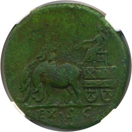 Image of AD 138-140/1 Faustina Sr. AE Sestertius NGC VF (Ancient Roman) Strike:5/5; Surface 4/5