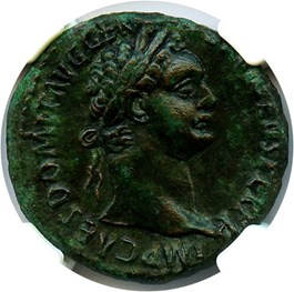 Image of AD 81-96 Domitian AE As NGC XF (Ancient Roman) Strike:4/5; Surface 3/5