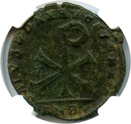 Image of Magnentius AE1 (BI Centenionalis) NGC Choice VF (Ancient Roman) Strike:3/5; Surface 3/5