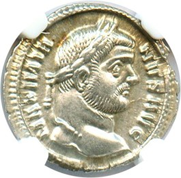 Image of AD 286-310 Maximian AR Argenteus NGC Ch AU *Star*(Ancient Roman) Strike:5/5; Surface 5/5