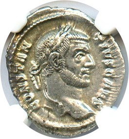 Image of AD 305-306 Constantius I AR Argenteus NGC Ch AU (Ancient Roman) Strike:4/5; Surface 5/5