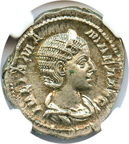 Image of AD 222-235 Julia Mamaea AR Denarius NGC MS (Ancient Roman) Strike:5/5; Surface 4/5