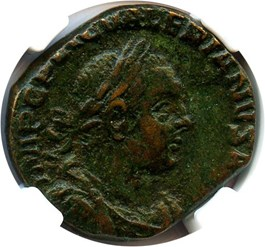 Image of AD 253-260 Valerian I AE Sestertius NGC Ch VF (Ancient Roman) Strike:5/5; Surface 3/5