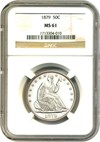 Image of 1879 50c NGC MS61 * Low Mintage Date *