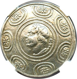 Image of 277-239 BC Antigonus II Gonatas AR Tetradrachm NGC VF (Ancient Greek) Strike:5/5; Surface 3/5