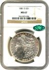 Image of 1881-S $1 NGC/CAC MS67 - No Reserve!