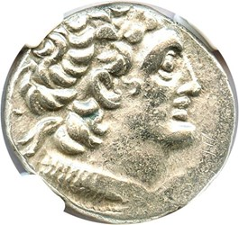 Image of 80-51 BC Ptolemy XII AR Tetradrachm NGC AU (Ancient Greek) Strike:4/5; Surface 5/5