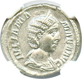 Image of AD 222-235 Julia Mamaea AR Denarius NGC AU (Ancient Roman) Strike:3/5; Surface 4/5