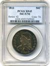 Image of 1813 50c PCGS XF45 (50C/UNI) * Scarce Variety *