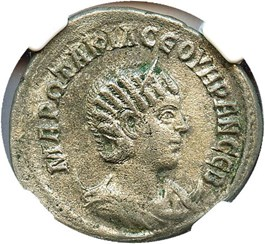 Image of AD 244-49 Otacillia Severa Tetradrachm NGC XF (Ancient Roman) Strike:5/5; Surface 3/5