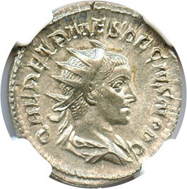 Image of AD 249-251 Herennius Etruscus Double-Denarius NGC XF (Ancient Roman) Strike:4/5; Surface 4/5