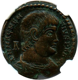 Image of AD 350-353 Magnentius AE2 (BI Centenionalis) NGC VF (Ancient Roman) Strike:4/5; Surface 5/5