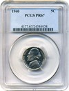 Image of 1940 5c PCGS Proof 67