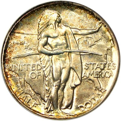 Image of 1926 Oregon 50c PCGS/CAC MS67 *Color*