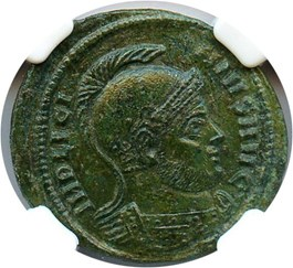Image of AD 308-324 Licinius I AE3 (Bi Nummus) NGC XF (Ancient Roman) Strike:4/5; Surface 2/5