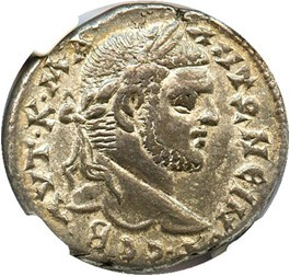 Image of AD 198-217 Caracalla BI Tetradrachm NGC Ch VF (Ancient Roman) Strike:5/5; Surface 4/5