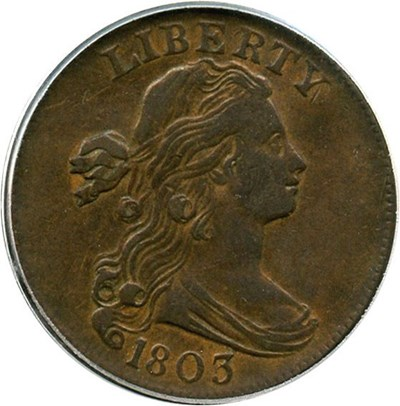 Image of 1803 1c PCGS/CAC XF45 (Small Date, Small Fraction)