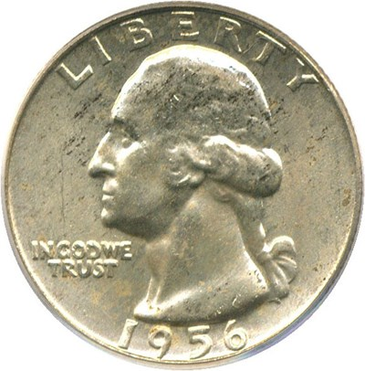 Image of 1956-D 25c PCGS MS64