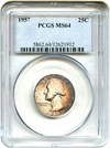 Image of 1957 25c PCGS MS64 * Pretty Toning *