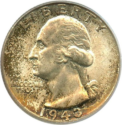 Image of 1943 25c PCGS MS65