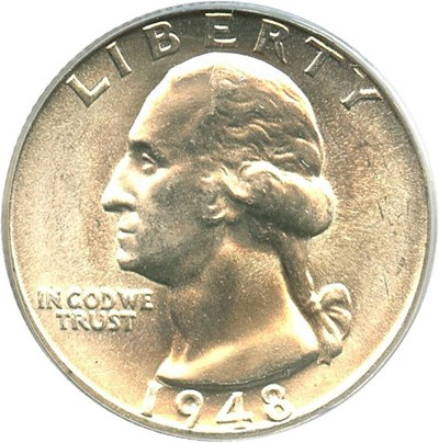 Image of 1948-D 25c PCGS MS66