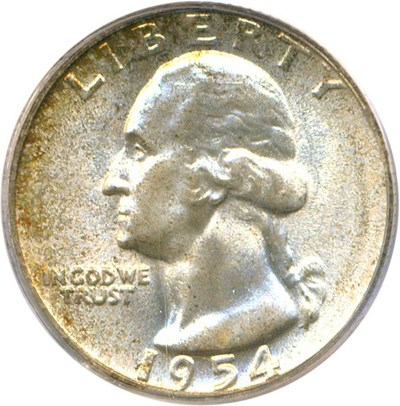 Image of 1954 25c PCGS/CAC MS67