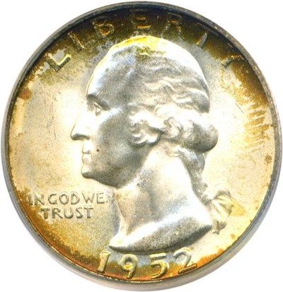 Image of 1952-S 25c PCGS MS67