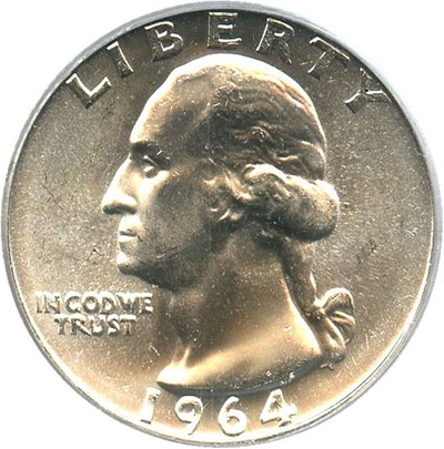 Image of 1964 25c PCGS MS66