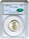 Image of 1950-S/D 25c PCGS/CAC MS66 - Key Date - Tied for Finest at CAC