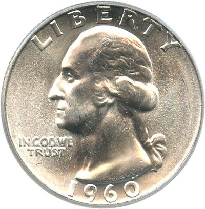 Image of 1960 25c PCGS Secure MS67 - Important Grade Rarity Gem