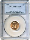 Image of 1964 1c PCGS MS66 RD