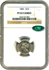 Image of 1883 3cN NGC/CAC Proof 65 Cameo - No Reserve!