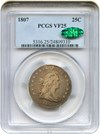 Image of 1807 25c PCGS/CAC VF25